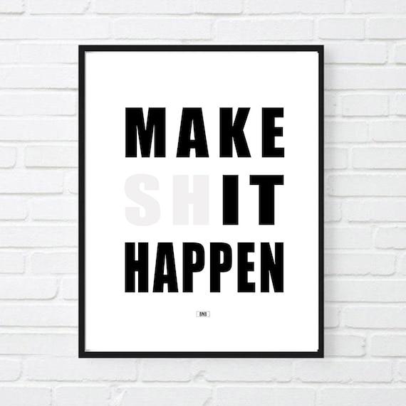 Motivation 305 Black /& White Gym Inspirational Print Quote Determination Poster