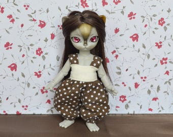 Overall weight Brown Nelly [Hujoo baby 12cm.