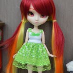 Green outfit Rine flowers [Pullip, Obitsu 27 cm =]