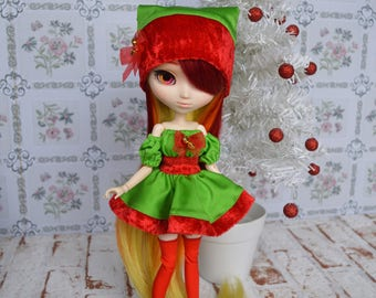 Outfit Bell red [Pullip, Obitsu 27 cm =]