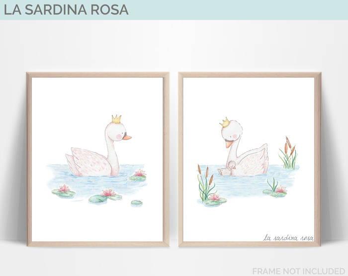 Set di 2 stampe per bambini due quadri cameretta regalo etsy for Crea cameretta