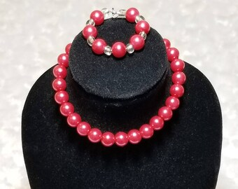 Pink Pearl Necklace and Bracelet - American Girl & Friends