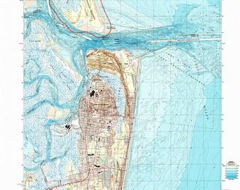 Elevation Map Of Florida.Fernandina Map Etsy