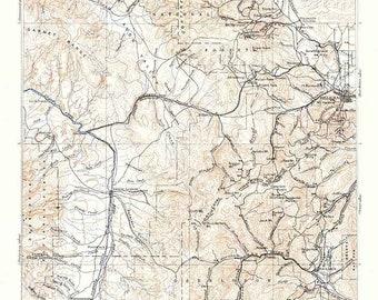 Helena montana map   Etsy