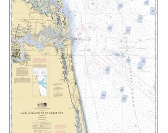 Amelia island map | Etsy