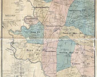 Davidson Nc Map Etsy