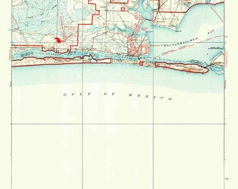 Map Of Mary Esther Florida.Fort Walton Beach Etsy