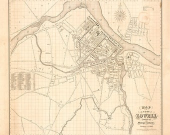 """16/"""" x 24/"""" 1873 Map Plan of Falmouth Heights Falmouth Mass"""