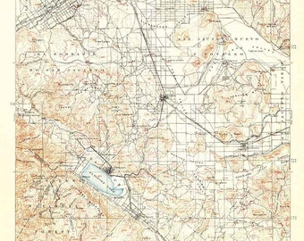 National forest map   Etsy