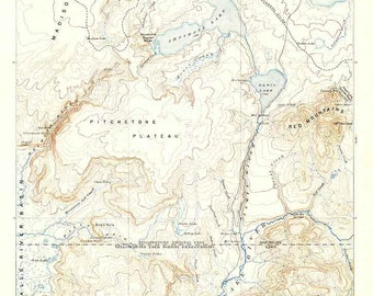 Map Of Snake River Etsy