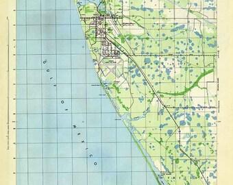 Map Venice Florida.Venice Florida Map Etsy