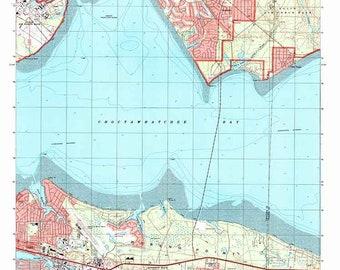 Destin florida map | Etsy