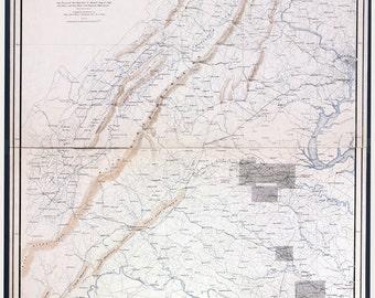 Gettysburg Topographic Map.Gettysburg Map Etsy