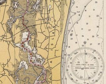Where Is Amelia Island Florida On The Map.Amelia Island Map Etsy