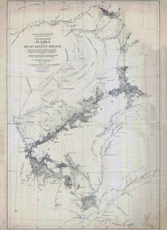 Alaska 1904 Mckinley Mt Region Map Of N80wmnv