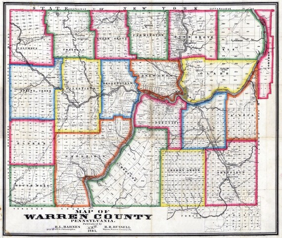 1865 Farm Line Map of Warren County Pa Map Of Warren County on map of west carrollton, map of petros, map pa county, map of oneida, map of worthington state forest, map of cook forest state park, map of clive, map of city of niagara falls, map of upper bucks, map of rock island state park, map of new carlisle, map of middleburg heights, map of clarion, map maine county, map of ebensburg, map of piketon, map of hazlehurst, new jersey warren county, map of axtell, map of windsor heights,
