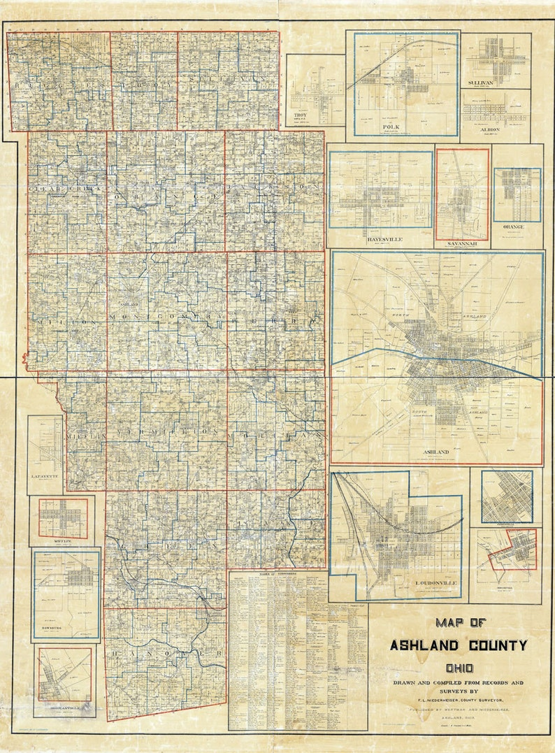 1897 Farm Line Map of Ashland County Ohio Loudenville Ashland landowners Map Of Ashland County Ohio on map of warren ohio, crawford county, map of united states ohio, map of jeromesville ohio, map of ashland ohio area, map of cincinnati ohio, hancock county, allen county, map of clear creek township ohio, adams county, map of mifflin township ohio, holmes county, map of chippewa ohio, map of parma ohio, map of broadview heights ohio, map of lebanon ohio, richland county, map of milton township ohio, franklin county, map of canton ohio, clark county, map of beloit ohio, cuyahoga county, map of perry township ohio, knox county, map of orange township ohio, lorain county, wayne county, lake county, medina county, map of ashtabula ohio, erie county, map of west chester ohio, map of cuyahoga river ohio, delaware county, fairfield county, marion county, map of madison ohio,