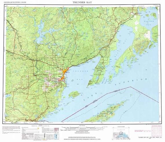 Thunder Bay Michigan Map.1959 Topo Map Of Thunder Bay Michigan Lake Superior