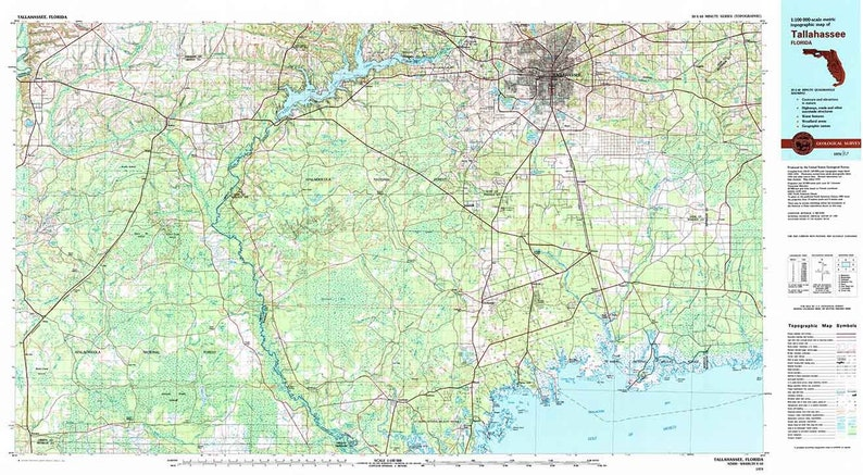 1979 Topo Map of Tallahassee Florida Quadrangle
