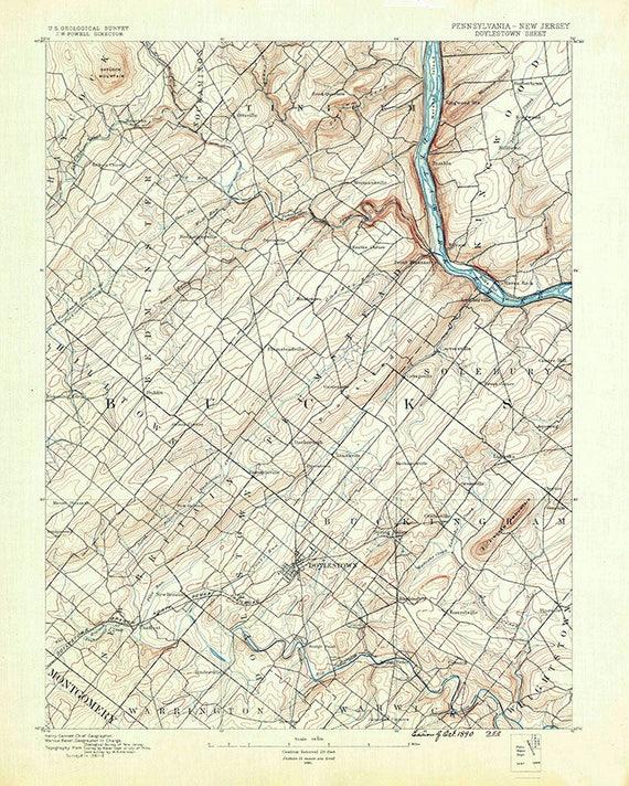 map doylestown pa