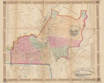 1849 Map of Providence Rhode Island
