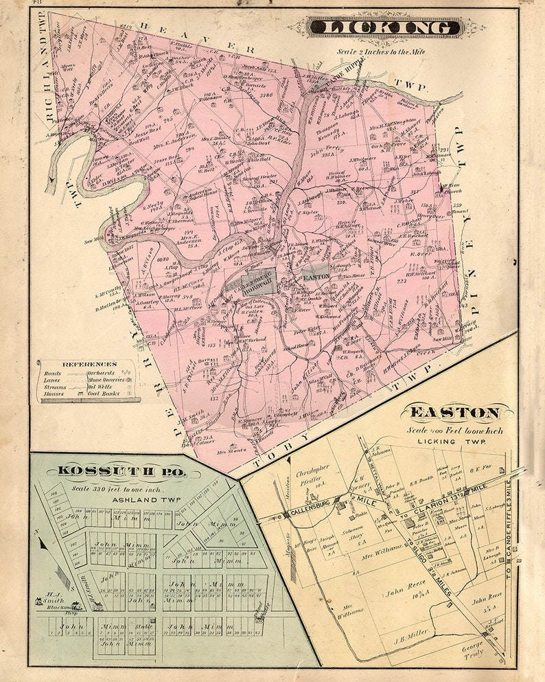 Clarion Pa Map on
