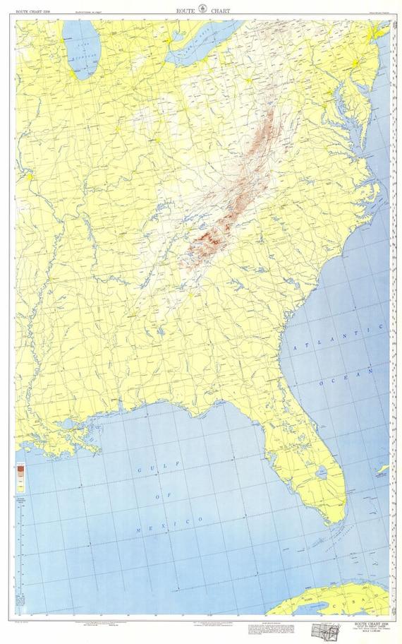 1953 Nautical Map of the United States East Coast