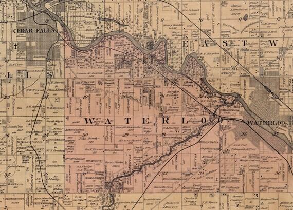 1887 Map of Black Hawk County Iowa Cedar Falls Waterloo City Map Of Cedar Falls Waterloo Ia And on map of waterloo iowa mapquest, map of lawton ia, map of sioux city ia, map of wi mn ia,