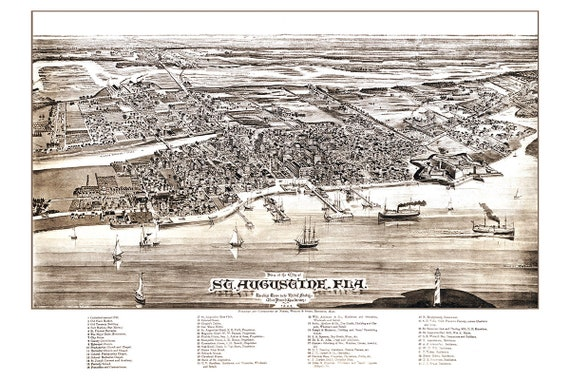 Missoula Montana 1891 Historic Panoramic Town Map 20x30