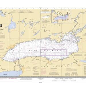 Map lake ontario | Etsy