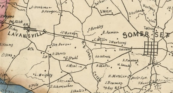 1830 Map of Somerset County Pa