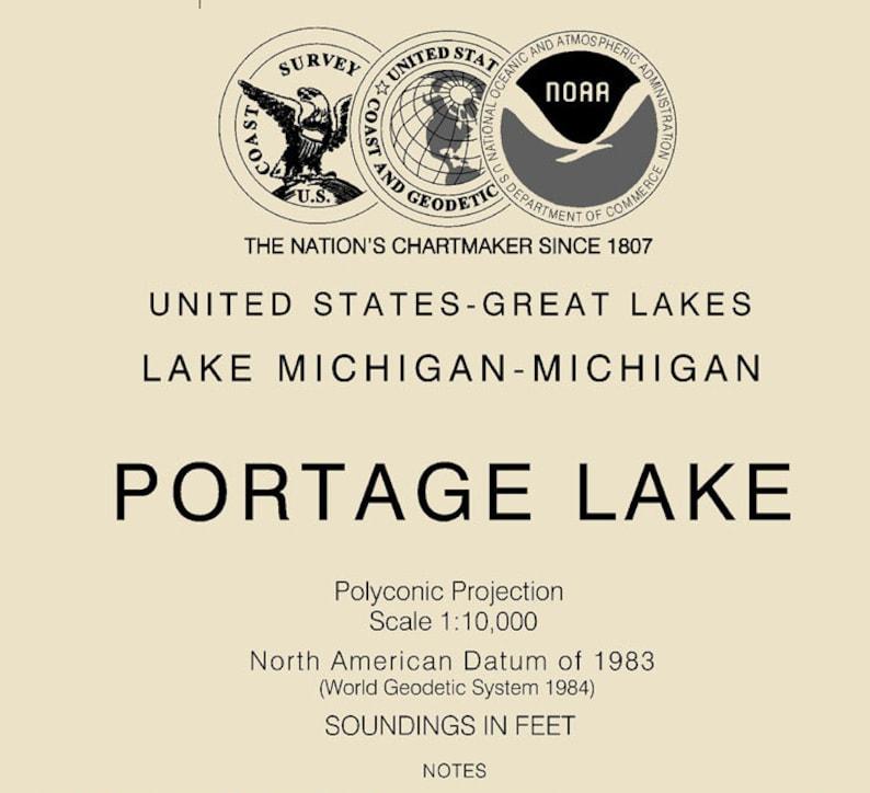 2015 Nautical Map of Portage Lake Manistee County Michigan Onekama