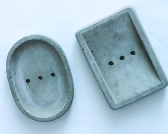 Soap Dish, concrete soap dish with drainage holes, kitchen and bathroom home décor