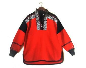 Vintage 1990s Obermeyer Aztec southwestern fleece ski pullover jacket dcae9793d