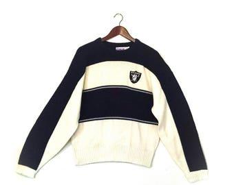 Vintage Oakland Raiders NFL football sweater    vintage Oakland California Raiders  sweater    retro Oakland Raiders mens sweater 058789d6c2cc