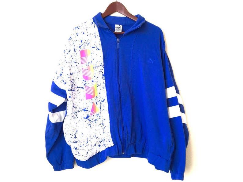 Vintage funky fresh neon color splattered PUMA sweatshirt