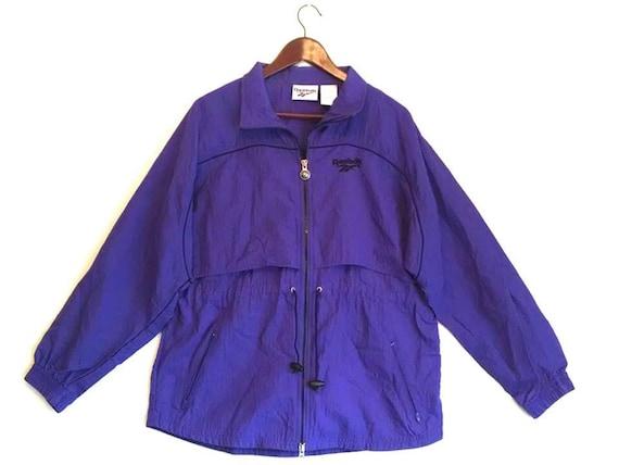 Vintage 1990s Reebok purple windbreaker jacket