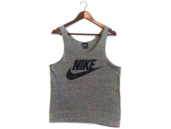 Vintage gray 1980s Nike tank top blue tag small
