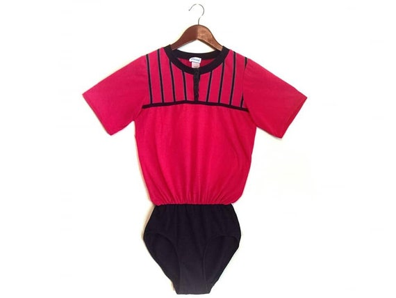Vintage 1980s Leggs aerobics leotard glow costume