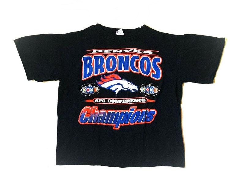 Vintage 1998 Denver Broncos AFC Champions Super Bowl t-shirt  e4492c4f2