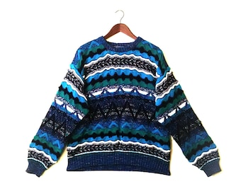 Vintage 1990s Concrete colorful coogi style sweater