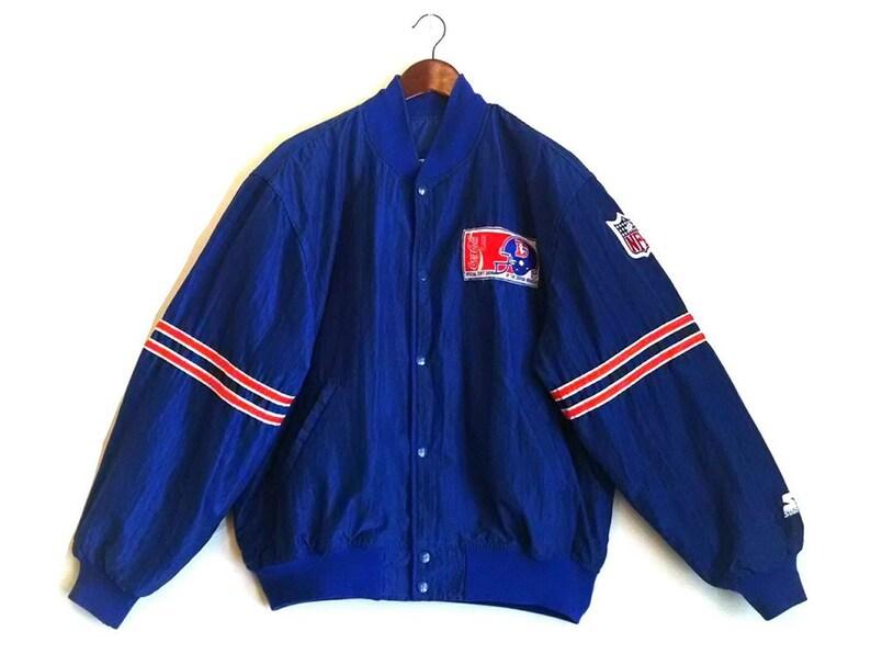 online retailer 25ea2 327cc Vintage Denver Broncos NFL Denver Colorado Starter nylon bomber coat