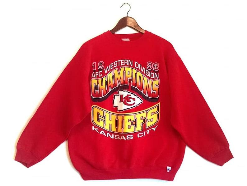 9f3cc550ca0c3b Vintage 1993 Kansas City Chiefs KC NFL jumper sweatshirt | Etsy