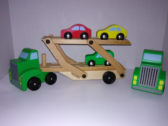 Melissa And Doug 2 Car Carriers With 3 Cars Ages 3