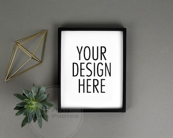 bdb6809a811c Frame Mockup Black Frame Mock Up Modern Poster Mockup Minimalist Vertical  Portrait Quote Poster Styled Photography Stock Grey Plants