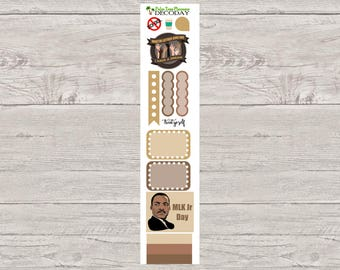DECODAYS Martin Luther King Jr (MLK) Day Planner Stickers