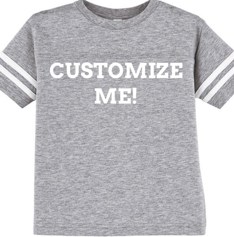 brand new 75388 4fdb7 Custom Unisex Cotton Tee, football jersey, personalized, gender neutral,  create your own, design your own, blank, shirt, gray