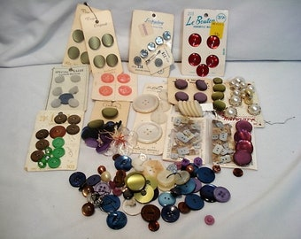 Vintage Assortment of Colorful Buttons Bag #4