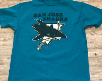 NHL San Jose Sharks Vintage 90s Short Sleeve Graphic T-Shirt Size 2XL XXL a8ff44ee3