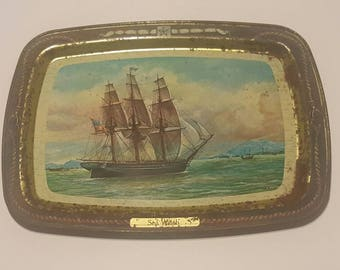 Vintage 1977 Sea Witch Collectible Tin Tray